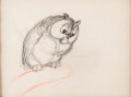 Animation Art:Production Drawing, Bambi Friend Owl Storyboard Drawing (Walt Disney, 1942)....