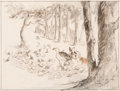 Animation Art:Production Drawing, Bambi Bambi and Faline Layout Drawing (Walt Disney, 1942)....