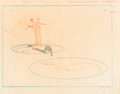 Animation Art:Production Drawing, Fantasia Ben Ali Gator Layout Drawing (Walt Disney,1982)....