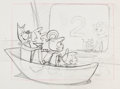 Animation Art:Production Drawing, The Jetsons Promo Spot Drawing of Entire Family (Hanna-Barbera, 1962)....