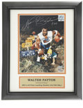 Football Collectibles:Others, Walter Payton Signed Photograph. This memorable image of the Hall of Fame back Walter Payton comes from a 1980s advertiseme...