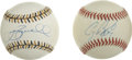 Autographs:Baseballs, Craig Biggio and Jeff Bagwell Single Signed Baseballs. For overfifteen years the duo of Craig Biggio and Jeff Bagwell serv...