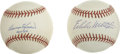 Autographs:Baseballs, Harmon Killebrew and Eddie Mathews Single Signed Baseballs Lot of2. Each of the signers of this lot are not only members o...