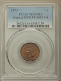 Indian Cents, 1873 1C Open 3, Misplaced Date, Snow 6, FS-1302, MS64 Red and Brown PCGS. PCGS Population: (2/0). MS64. ...