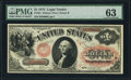 Large Size:Legal Tender Notes, Fr. 22 $1 1875 Legal Tender PMG Choice Uncirculated 63.. ...