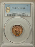 Indian Cents: , 1881 1C MS65 Red PCGS Secure. PCGS Population: (88/29 and 2/3+). NGC Census: (35/13 and 0/0+). MS65. Mintage 39,211,576. ...