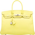 Luxury Accessories:Bags, Hermès 35cm Soufre Epsom Leather Birkin Bag with PalladiumHardware. Q Square, 2013. Condition: 3