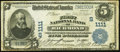 National Bank Notes:Virginia, Richmond, VA - $5 1902 Date Back Fr. 590 The First NB Ch. # (S)1111Fine.. ...