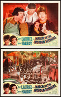 "Movie Posters:Comedy, Babes in Toyland (Lippert Pictures, R-1950). Lobby Cards (2) (11"" X 14""). Reissue Title: March of the Wooden Soldiers. C... (Total: 2 Items)"