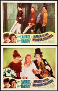 """Movie Posters:Comedy, Babes in Toyland (Lippert Pictures, R-1950). Very Fine. Lobby Cards(2) (11"""" X 14""""). Reissue Title: March of the Wooden So...(Total: 2 Items)"""