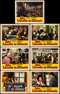 """Abe Lincoln in Illinois (RKO, 1940). Title Lobby Card & Lobby Cards (6) (11"""" X 14""""). Drama. ... (Total: 7..."""