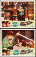 """Movie Posters:Comedy, Babes in Toyland (Lippert Pictures, R-1950). Lobby Cards (2) (11"""" X14""""). Reissue Title: March of the Wooden Soldiers. C...(Total: 2 Items)"""