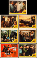 """Movie Posters:Western, Billy the Kid (MGM, 1941). Overall: Very Fine-. Title Lobby Card& Lobby Cards (6) (11"""" X 14""""). Western.. ... (Total: 7 Items)"""
