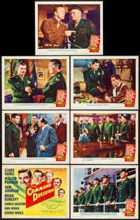 "Command Decision (MGM, 1948). Title Lobby Card & Lobby Cards (6) (11"" X 14""). War. ... (Total: 7 Items..."