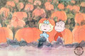 Animation Art:Production Cel, Peanuts - It's the Great Pumpkin, Charlie Brown Sally andLinus Production Cel Setup (Bill Melendez, 1966)....