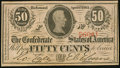 Confederate Notes:1863 Issues, T63 50 Cents 1863 PF-7 Cr. UNL Choice Crisp Uncirculated.. ...