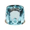 Estate Jewelry:Rings, Art Deco Aquamarine, White Gold Ring . ...