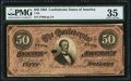 Confederate Notes:1864 Issues, T66 $50 1864 PF-1 Cr. 495 PMG Choice Very Fine 35.. ...