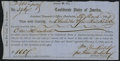 Confederate Notes:Group Lots, Interim Depository Receipt Charleston, (SC)- $100 Mar. 29, 1864 Tremmel SC-40 Choice About Uncirculated.. ...