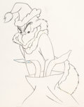 Animation Art:Production Drawing, Dr. Seuss' How the Grinch Stole Christmas Grinch AnimationDrawing (MGM, 1966). ...