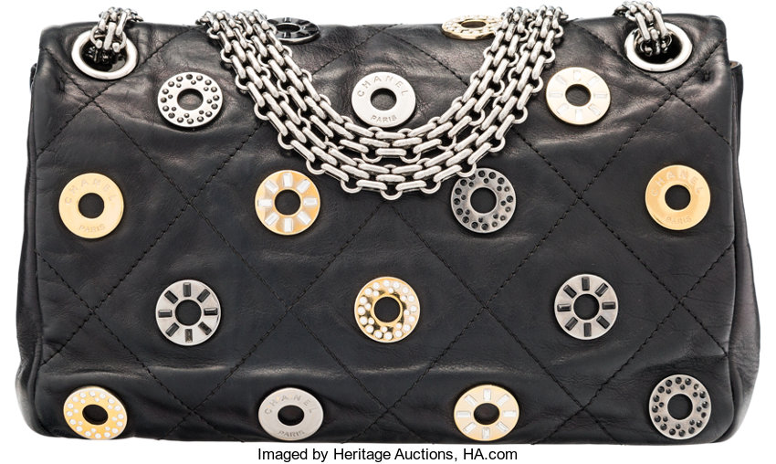 043d70f2523e Chanel Limited Edition Swarovski Crystal Black Quilted   Lot #58119    Heritage Auctions