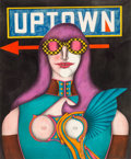 Works on Paper, Richard Lindner (1901-1978). Uptown, 1968. Pencil and watercolor on cardboard. 23-7/8 x 19-5/8 inches (60.7 x 50 cm). Si...