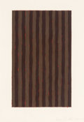 Works on Paper, Sean Scully (b. 1945). Untitled, 1981. Oil on paper. 17-3/4 x 12-3/8 inches (45.1 x 31.4 cm). Signed and dated lower rig...