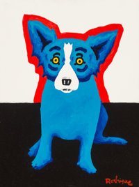 George Rodrigue (1944-2013) The Only One, 2000 Acrylic on linen 16 x 12 inches (40.6 x 30.5 cm)