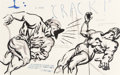 Works on Paper, Raymond Pettibon (b. 1957). Untitled (V. Speaks: Crack!), 2000. Ink, watercolor, and pencil on Arches paper. 25-1/2 x 39...