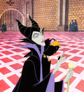 Animation Art:Production Cel, Sleeping Beauty Maleficent and Diablo Production Cel (Walt Disney, 1959)....