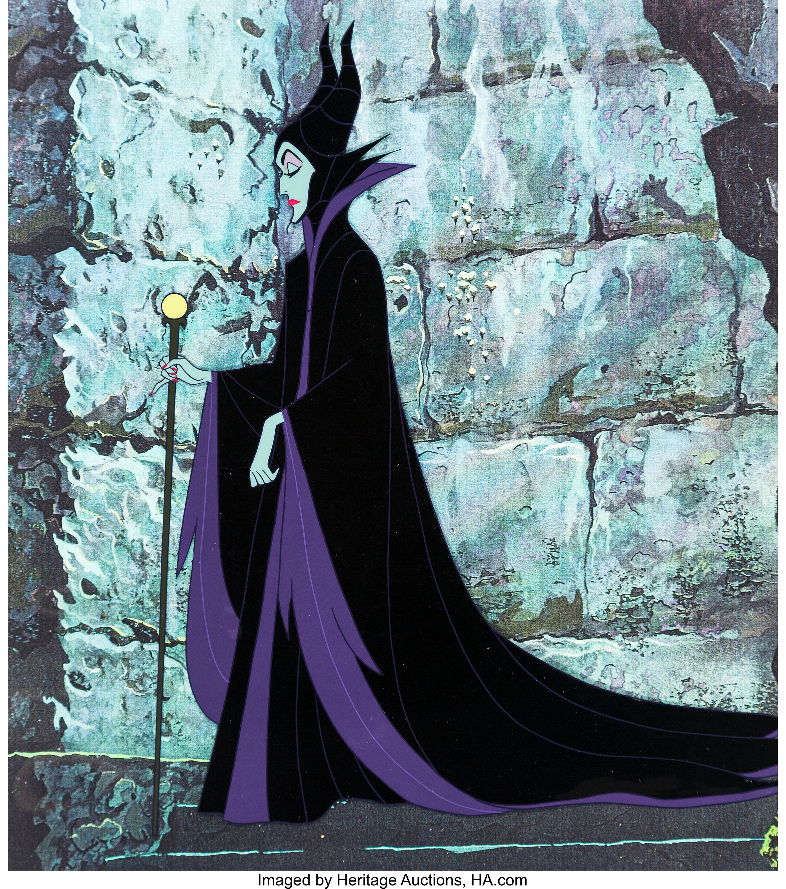 Sleeping Beauty Maleficent Production Cel And Animation
