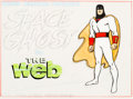 "Animation Art:Production Cel, Space Ghost ""The Web"" Title Cel Setup (Hanna-Barbera,1966).... (Total: 3 Items)"