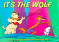 Animation Art:Production Cel, It's The Wolf Main Title Cel Setup with Key MasterBackground (Hanna-Barbera, 1969)....