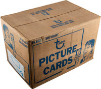 1981 Topps Football Unopened Vending Case With 24 Boxes - Montana Rookie Year!