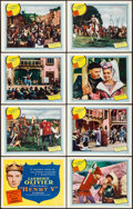 """Movie Posters:Drama, Henry V (United Artists, R-1954). Lobby Card Set of 8 (11"""" X 14"""").Drama.. ... (Total: 8 Items)"""