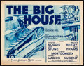 """Movie Posters:Drama, The Big House (MGM, R-Late 1930s). Title Lobby Card (11"""" X 14"""").Drama.. ..."""