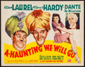 """Movie Posters:Comedy, A-Haunting We Will Go (20th Century Fox, 1942). Title Lobby Card(11"""" X 14""""). Comedy.. ..."""