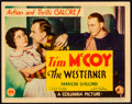 """Movie Posters:Western, The Westerner (Columbia, 1934). Very Fine-. Title Lobby Card (11"""" X14""""). Western.. ..."""