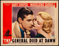"Movie Posters:Adventure, The General Died at Dawn (Paramount, 1936). Lobby Card (11"" X 14""). Adventure.. ..."