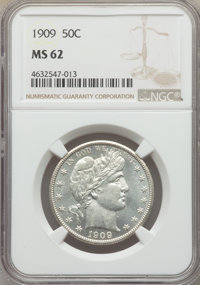 1909 50C MS62 NGC. NGC Census: (44/190). PCGS Population: (65/296). MS62. Mintage 2,368,650. From The Gary Verner Col...
