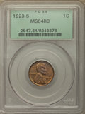 Lincoln Cents: , 1923-S 1C MS64 Red and Brown PCGS. PCGS Population: (190/26). NGC Census: (60/20). CDN: $1,000 Whsle. Bid for problem-free ...