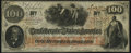 Confederate Notes:1862 Issues, T41 $100 1862 PF-25 Cr. 318A Extremely Fine-About Uncirculated.. ...