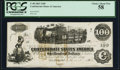 Confederate Notes:1862 Issues, T40 $100 1862 PF-20 Cr. 308 PCGS Choice About New 58.. ...