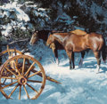 Fine Art - Painting, American, Oleg Stavrowsky (Russian/American, b. 1927). Late Winter.Oil on canvas. 28 x 30 inches (71.1 x 76.2 cm). Signed lower l...