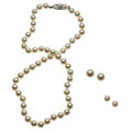 Estate Jewelry:Lots, Cultured Pearl, Gold Jewelry . ... (Total: 4 Items)