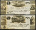Obsoletes By State:Maryland, Baltimore, MD- Deer Creek Works $1; $2 Mar. 4, 1837 Extremely Fine.. ... (Total: 2 notes)