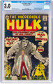 The Incredible Hulk #1 (Marvel, 1962) CGC GD/VG 3.0 Off-white to white pages