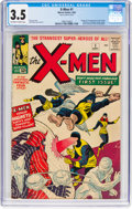 Silver Age (1956-1969):Superhero, X-Men #1 (Marvel, 1963) CGC VG- 3.5 Off-white to white pages....