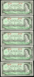 Canadian Currency, Canada $1 1967 Notes . ... (Total: 18 notes)