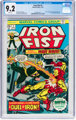 Iron Fist #1 (Marvel, 1975) CGC NM- 9.2 White pages